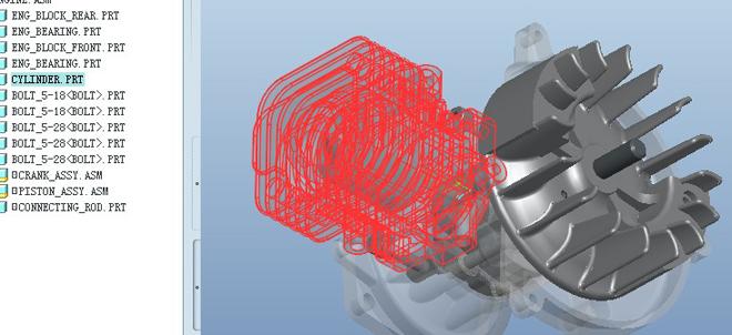 proe引擎模型